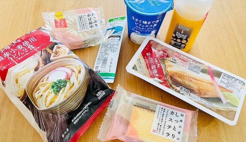 ファミリーマートの無添加食品たち