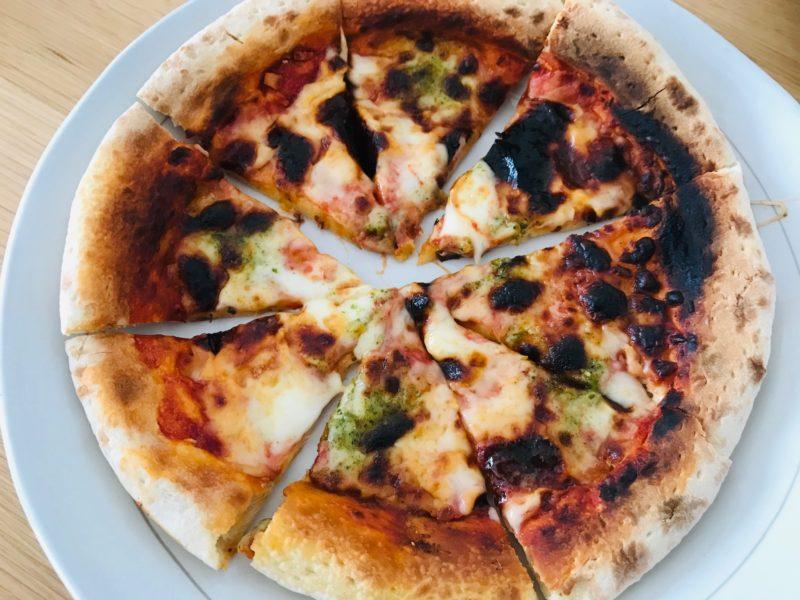 無添加ピザを焼いたところ