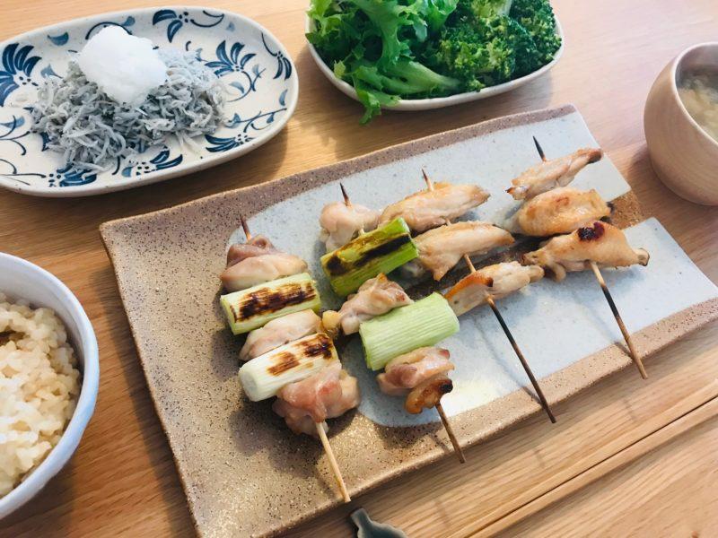 秋川牧園お試しセットの鶏もも肉で作った焼き鳥