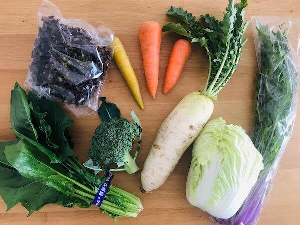 食べチョクコンシェルジュから届いた野菜