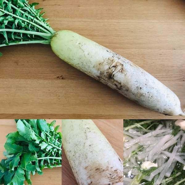 無農薬野菜ミレーの大根