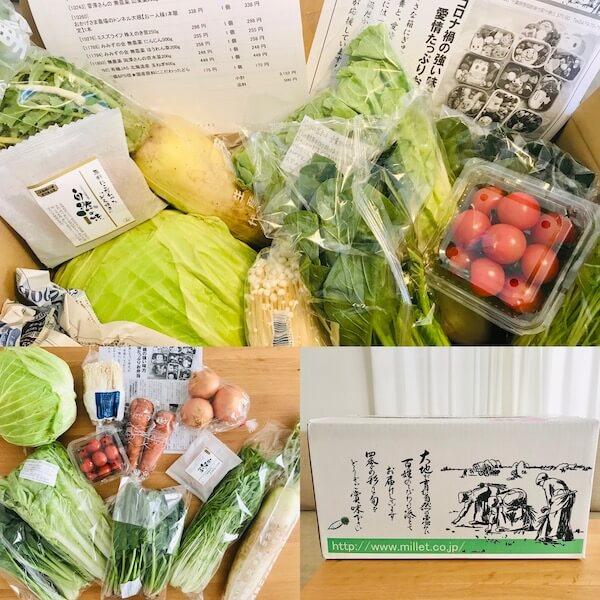 ミレー野菜の宅配サービス